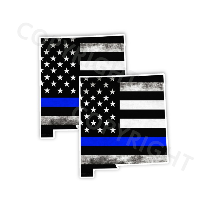 Thin Blue Line New Mexico Bumper Stickers