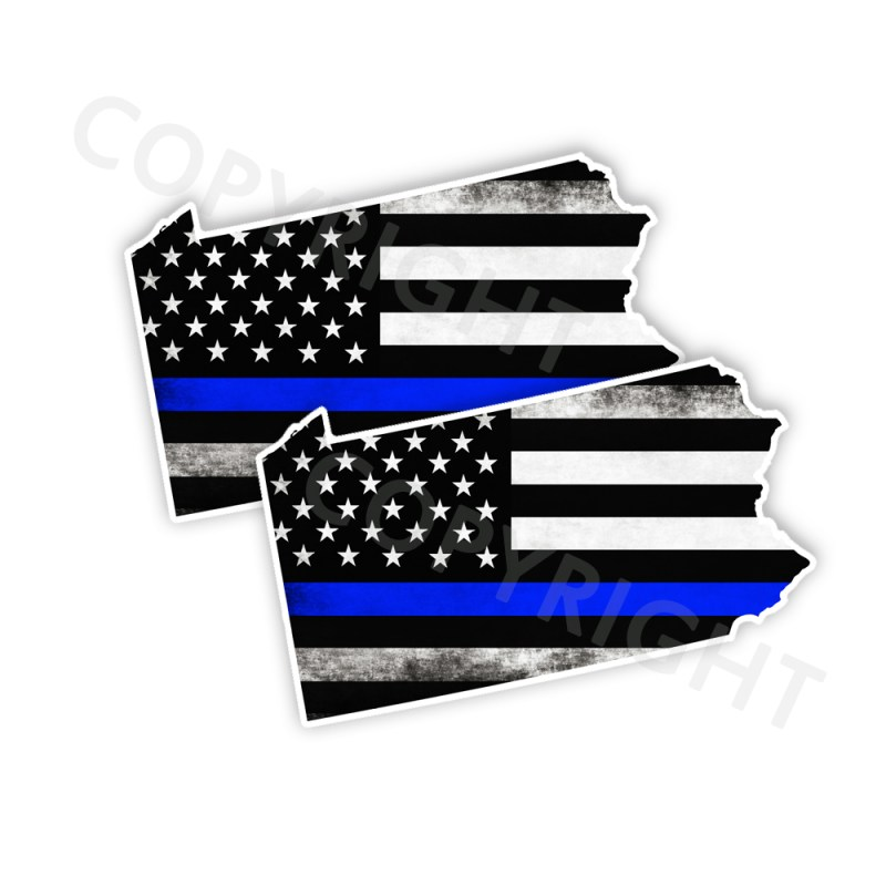 Thin Blue Line Pennsylvania Bumper Stickers
