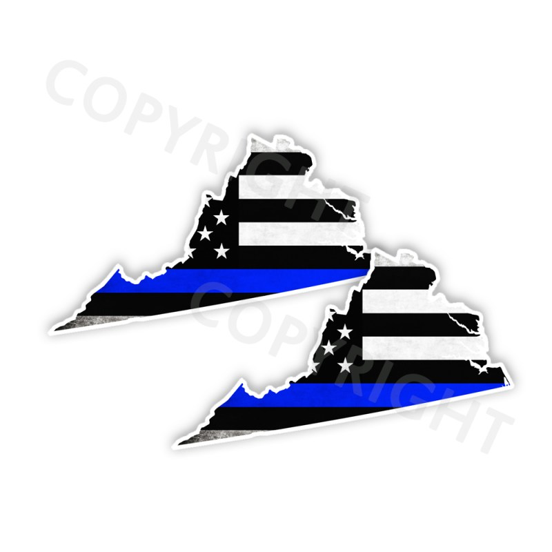 Thin Blue Line Virginia Stickers