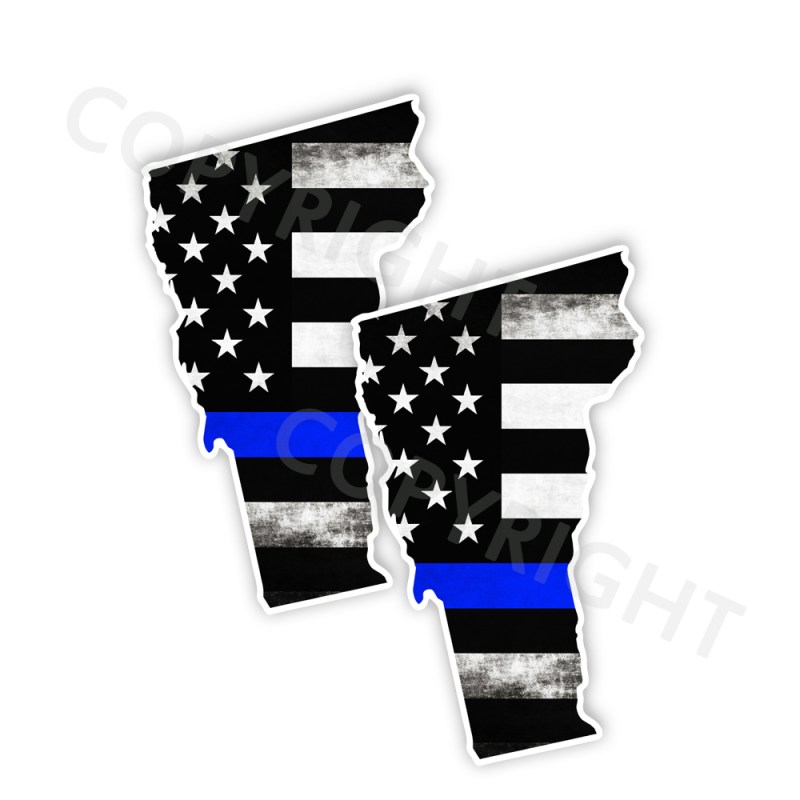 Thin Blue Line Vermont Stickers