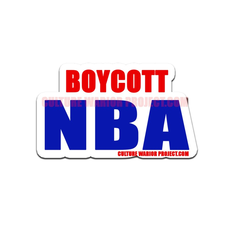 Boycott NBA Bumper Stickers 2 Pack