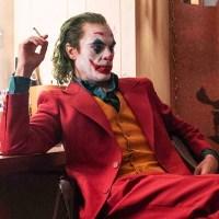 Joker smokes in dressing room.