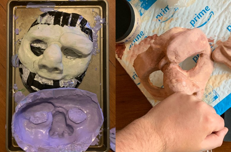 Brendan McWhirk Quasimodo mask mold and paint matching.