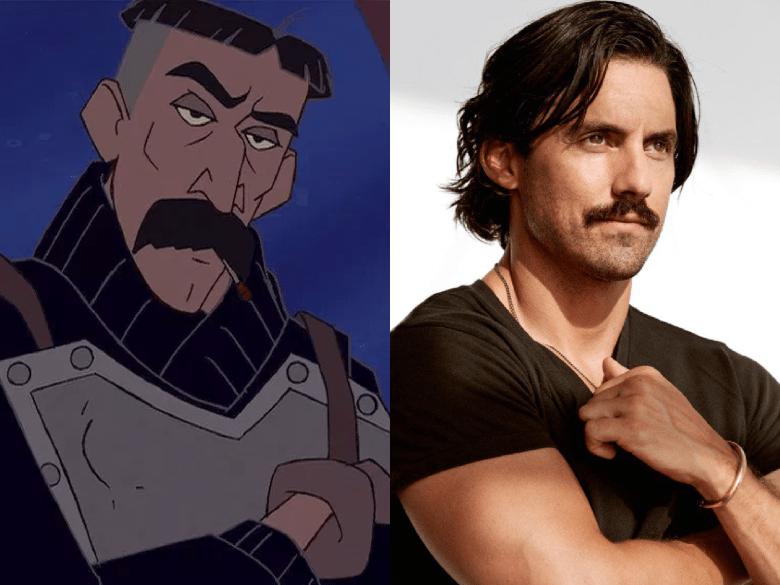 "Milo Ventimiglia as Vincenzo ""Vinny"" Santorini from ""Atlantis: The Lost Empire"""