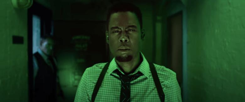 "Chris Rock as Detective Zeke Banks in ""Spiral""."