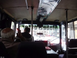 In the bus to class