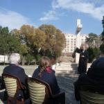 Outdoor service on the Protestant Cemetery