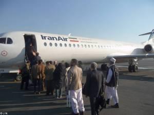 Boarding IranAir Fokker100