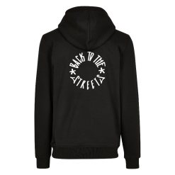 Premium Logo Backprint Hood - black