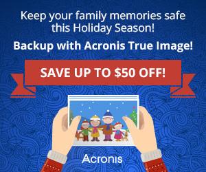 acronis holiday rabatt