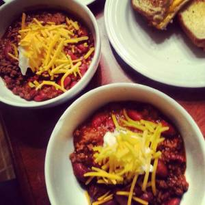 Chili and Grilled Cheese