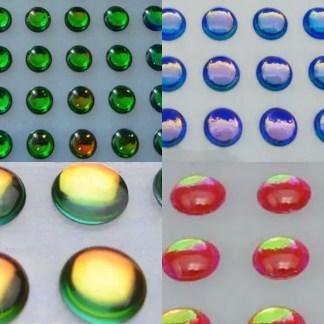 iridescent 3d lure eyes