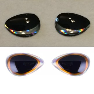 tri-oval 3d lure eyes