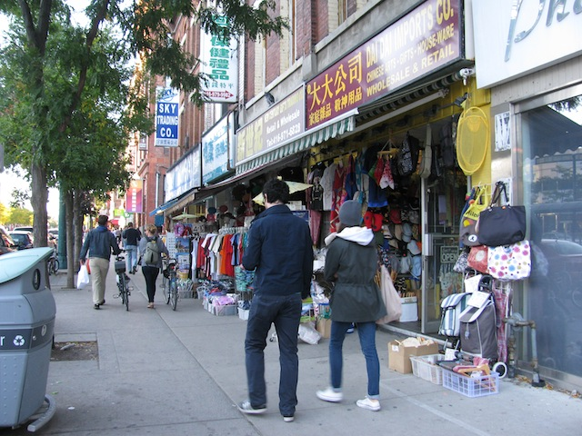 Chinatown in Toronto, Ontario.