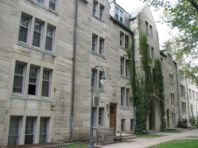 Residential Hall at the University of Toronto.