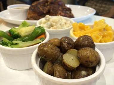 Three family members and myself ate a filling meal at Kenny Rogers for about P1,000 (or $22.35).