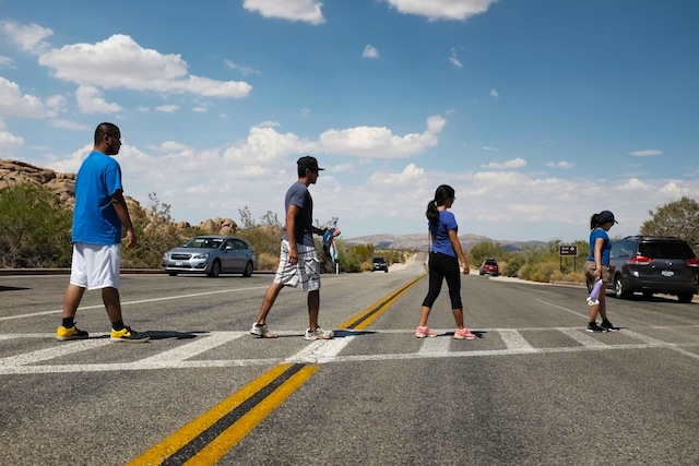 (And take staged shots imitating the cover of Abbey Road by The Beatles.)
