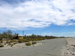 Deserted Salton Sea campgrounds
