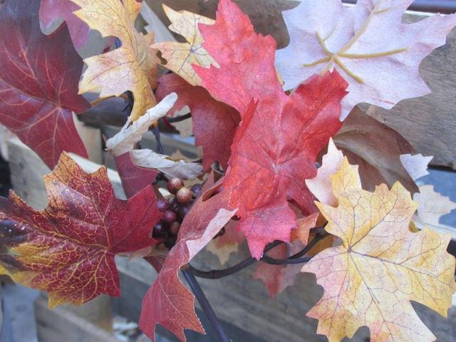 Fake autumn leaves