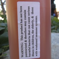Dramatic warning label