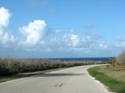 Road leading to Bird Island, another Saipan landmark.