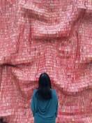 Red Block by El Anatsui