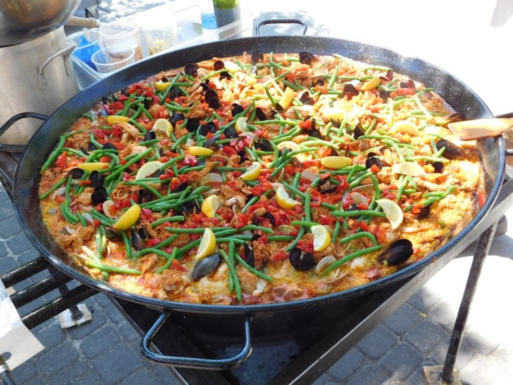 Paella on the Patio