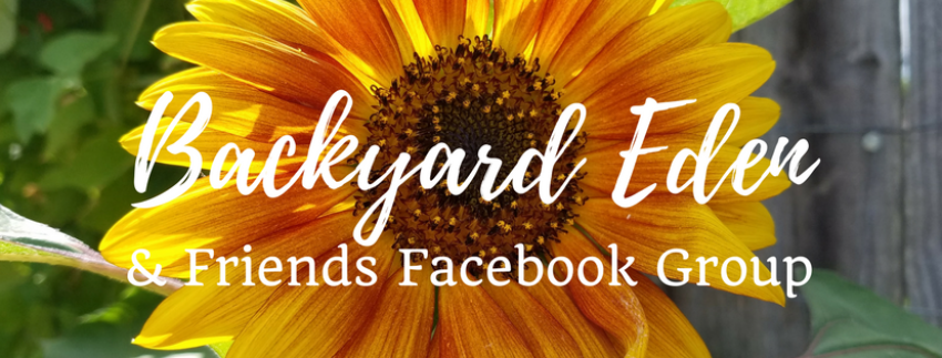 Backyard Eden & Friends Facebook Group