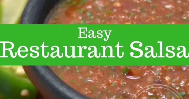 Restaurant Salsa Recipe