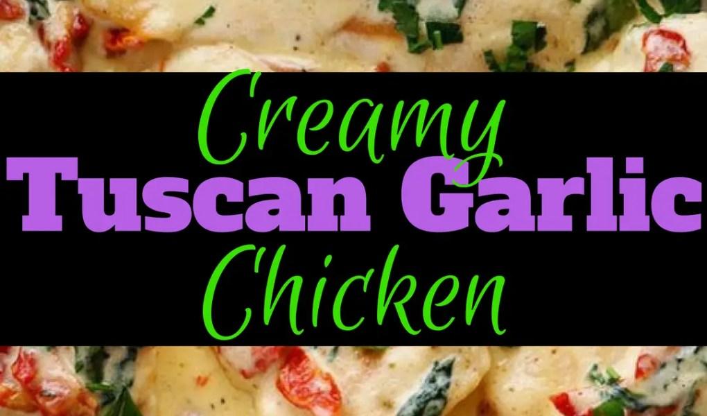 Creamy Tuscan Garlic Chicken, Chicken Recipe, Tuscan Garlic Chicken, Backyard Eden, www.backyard-eden.com, www.backyard-eden.com/creamy-tuscan-garlic-chicken