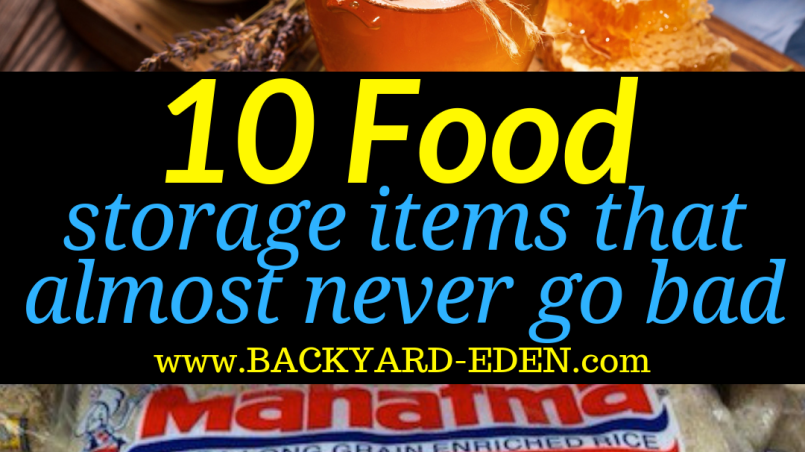 10 food storage items that almost never go bad, food storage items that almost never go bad, Backyard Eden, www.backyard-eden.com