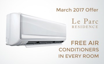 March 2017 Offer  Free Air Conditioners in Every Room