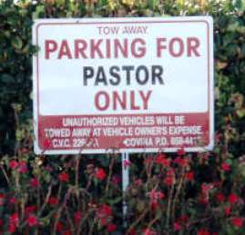 Pastor Only Parking2