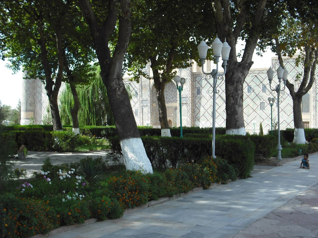 Gardens in Registan Square, Samarkand.