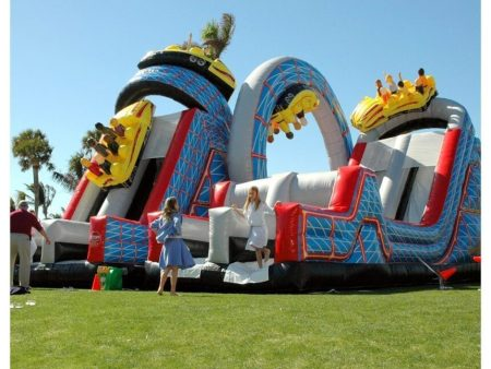 WildOne Inflatable Roller Coaster Obstacle Course | BYB Event Services