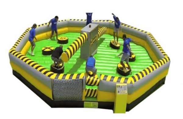 Inflatable Party Games - Wipe Out Challenge | BYB Event Services