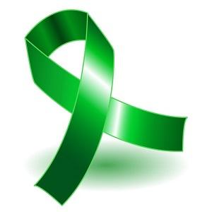 Lyme awareness green ribbon