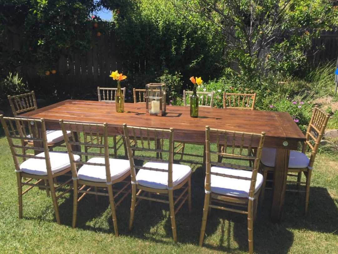 Farm Table Rentals San Diego
