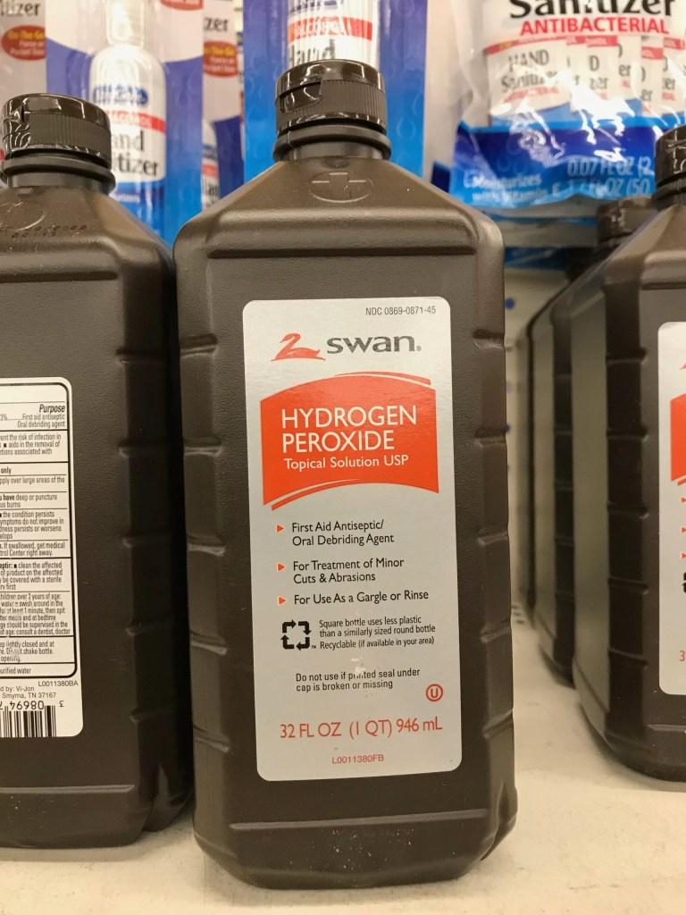 Hydrogen Peroxide- Dollar Store Chicken Supplies