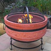 Terra Cotta Fire Bowl