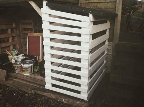 Bed frame bike shed
