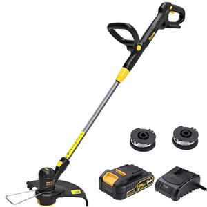 TECCPO String Trimmer, 20V 2Ah Lithium Ion