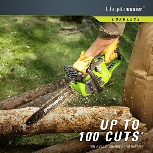 Greenworks 16-Inch 40V Cordless Chainsaw, 4.0 AH Battery Included Greenworks 16-Inch 40V Cordless Chainsaw, 4.0 AH Battery Included 20312.