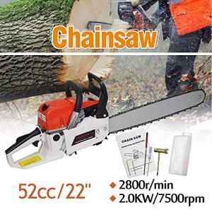 "ZXMOTO 22"" Bar Gas Chainsaw 52cc Engine Cutting Wood Chain ZXMOTO 22"" Bar Gas Chainsaw 52cc Engine Cutting Wood Chain Saw Aluminum Crankcase."