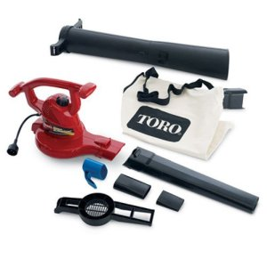 Toro Ultra Electric Blower Vac, 250 mph, Red