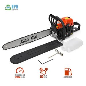 XtremepowerUS 52cc Gasoline Chainsaw 2.7HP Engine 2-Stroke Wood Cutting
