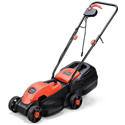 Goplus 14-Inch 12 Amp Lawn Mower w/Grass Bag Folding