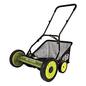 Sun Joe Manual Reel Mower w/Grass Catcher | 18 inch