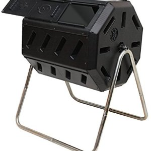 FCMP Outdoor Tumbling Composter, 37 gallon, Black