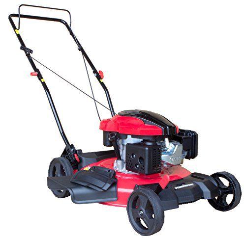 PowerSmart Gas Push Mower, Red, Black